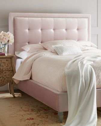 Haute House Callista Pink Velvet Beds Horchow I M Such A D Love Bed
