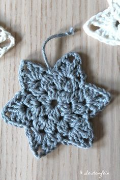 seidenfeins Blog vom schönen Landleben: 2. Häkelsterne als Coaster mit Anleitung * crochet star - coaster with DIY Tutorial #christmascrochetpatterns
