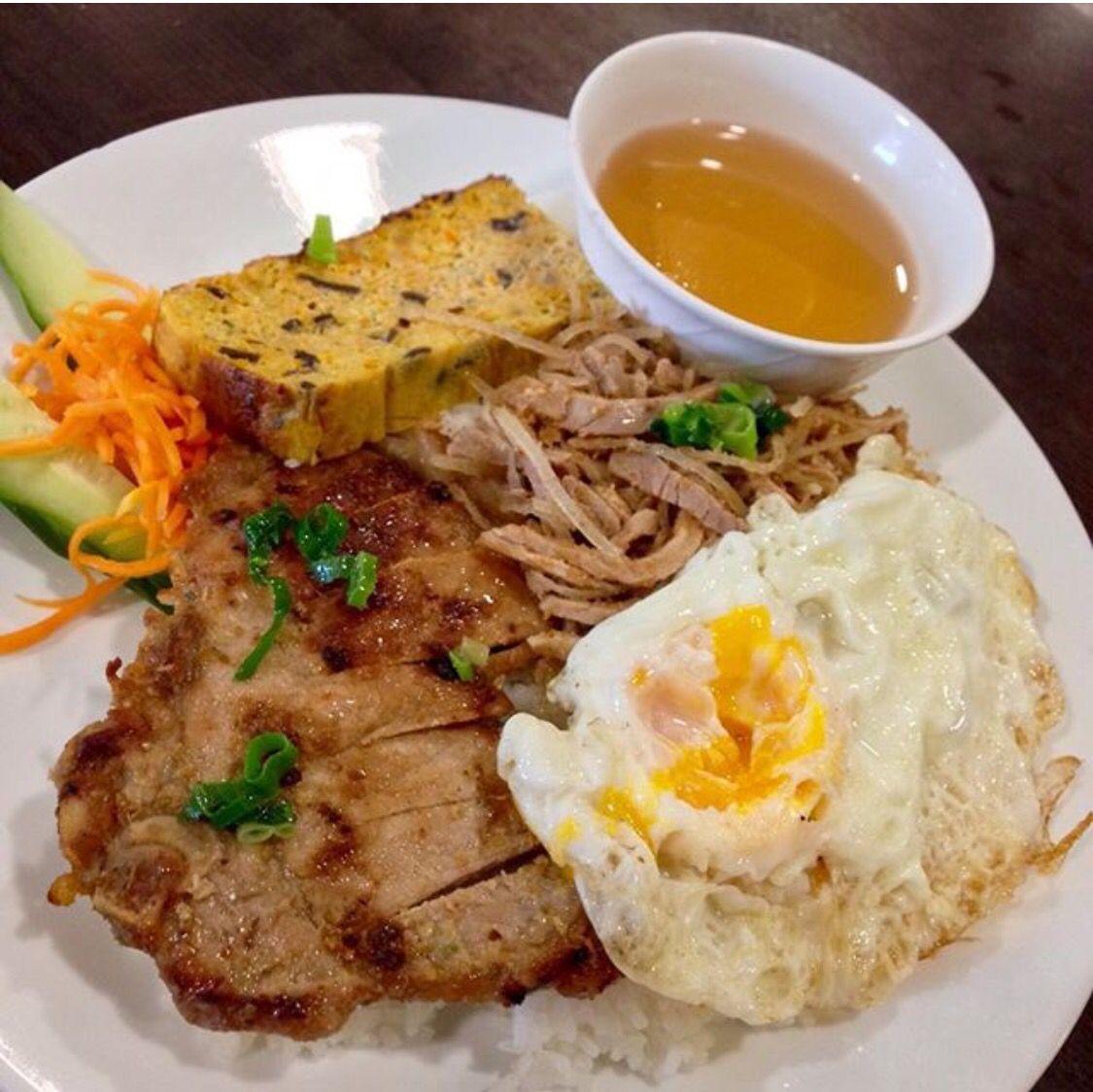 Com Tam ) ! Vietnamese broken rice served with grilled pork