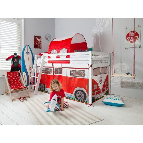 Noa and Nani Cabin Bed Midsleeper with C&ervan Tent and Tunnel  sc 1 st  Pinterest & Noa and Nani Cabin Bed Midsleeper with Campervan Tent and Tunnel ...