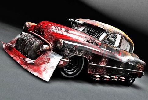 old school zombie slayer - Zombie Voiture