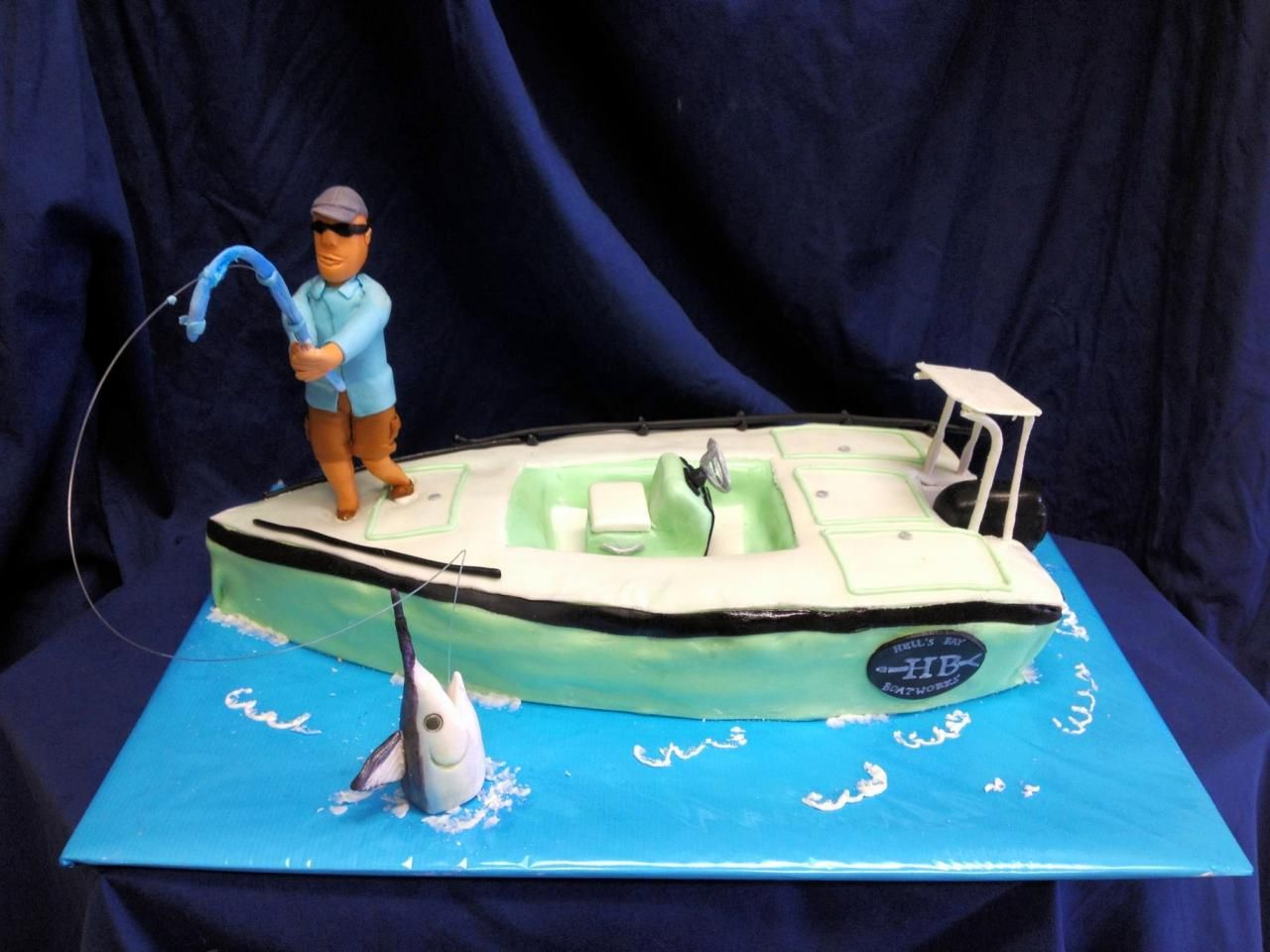 Flats Boat Fishing Cake Boy S Birthday Cakes Boat Cake