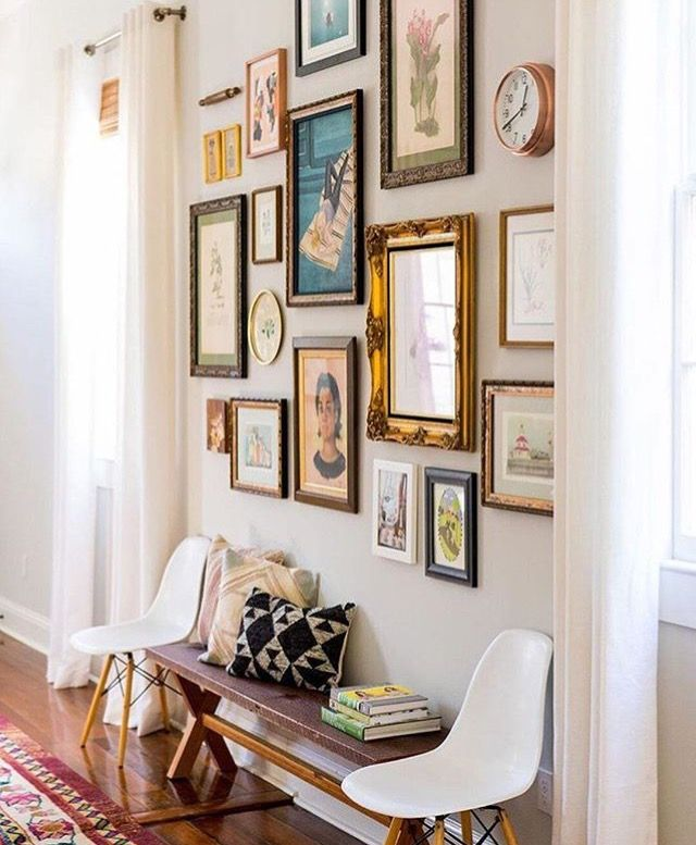 Pin by RealKhatWoman on Inspiration | Pinterest | Hall, Gallery wall ...