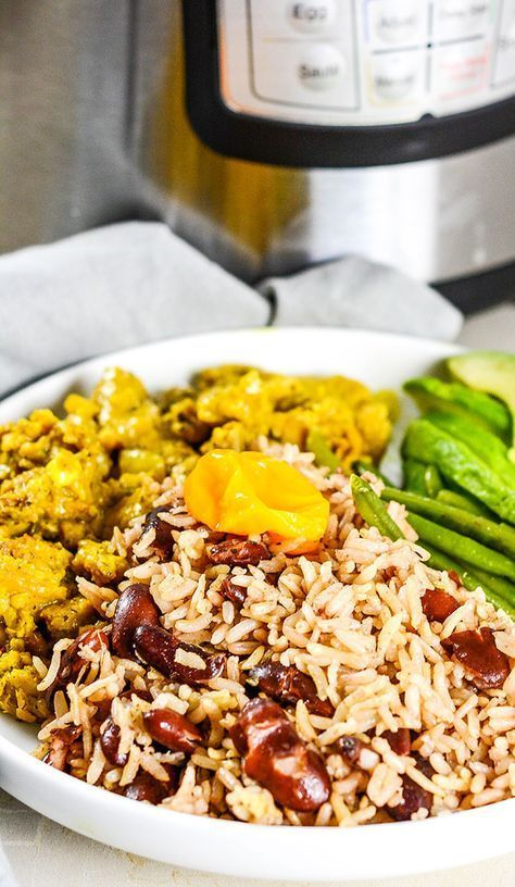 this amazing instant pot jamaican rice and peas recipe is