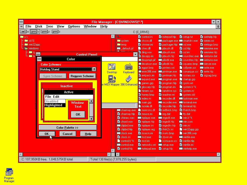 Game boy color palette - Gameboy Color Scheme Hot Dog Stand Theme