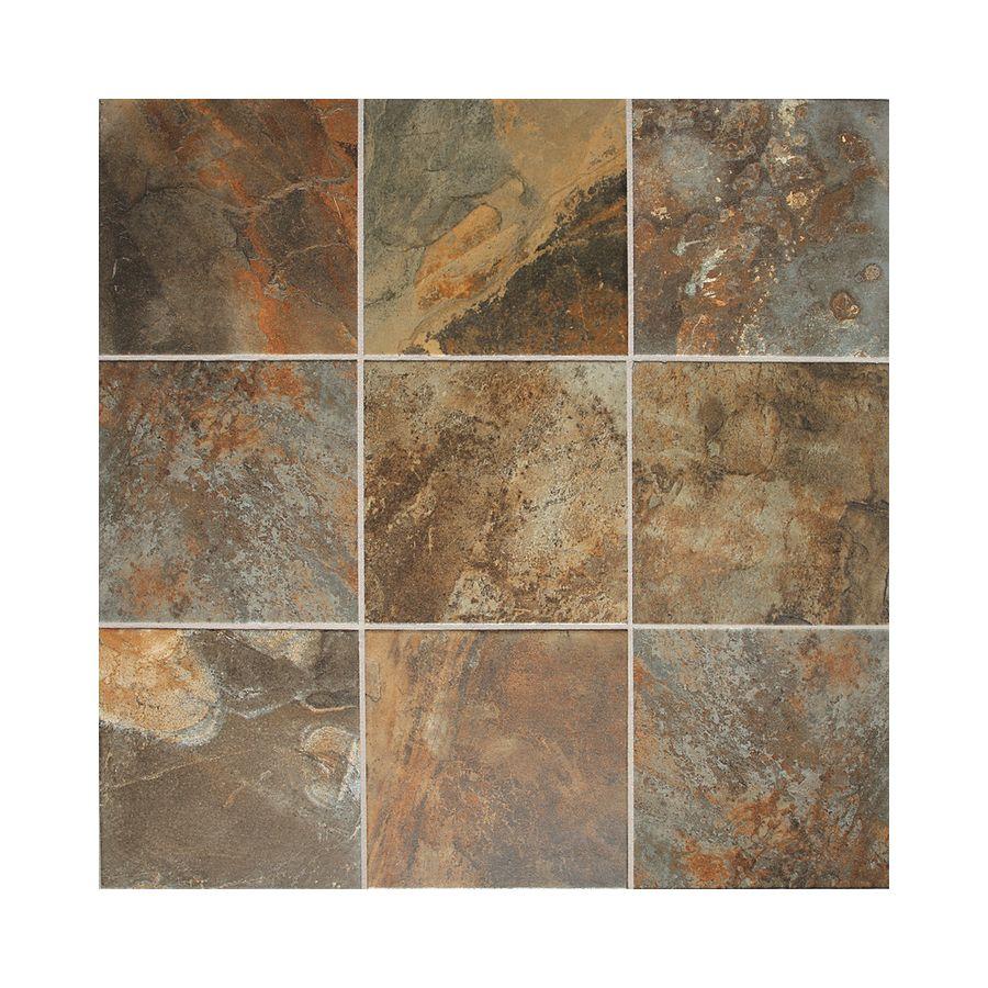 Slate Tiles For Kitchen Floor American Olean Kendal Slate 8 Pack Carlisle Black Porcelain Floor