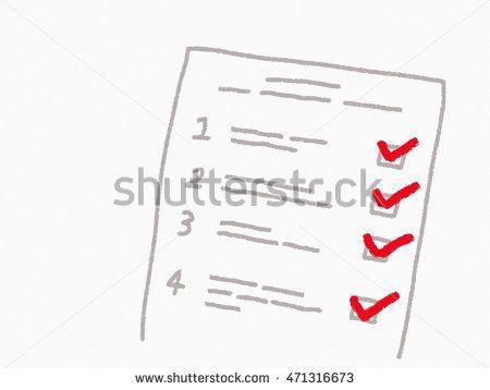 hand drawn customer survey for, risk assessment check list or - risk assessment