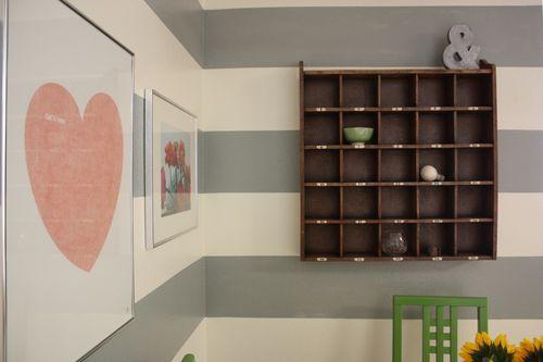 new living room & dining nook. #graystripedwalls