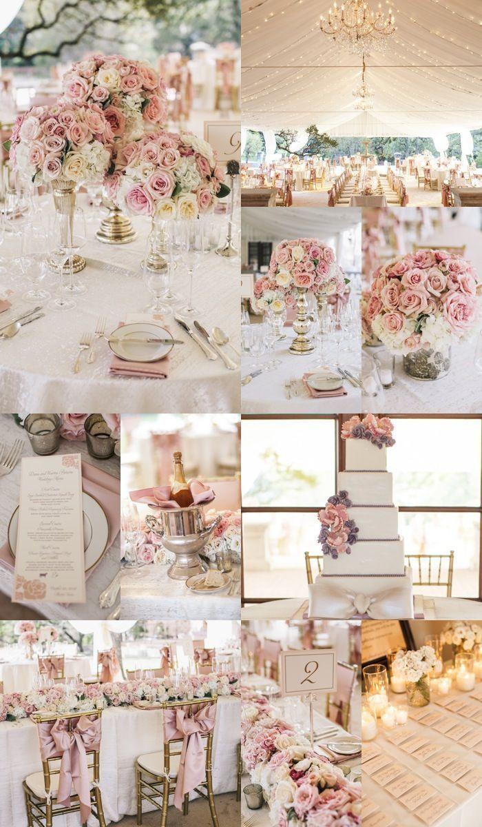 15 Raffinierte Ideen Fur Hochzeitsempfange Deko Modareji Dekoration Hochzeit Blumenschmuck Hochzeit Altrosa Hochzeit