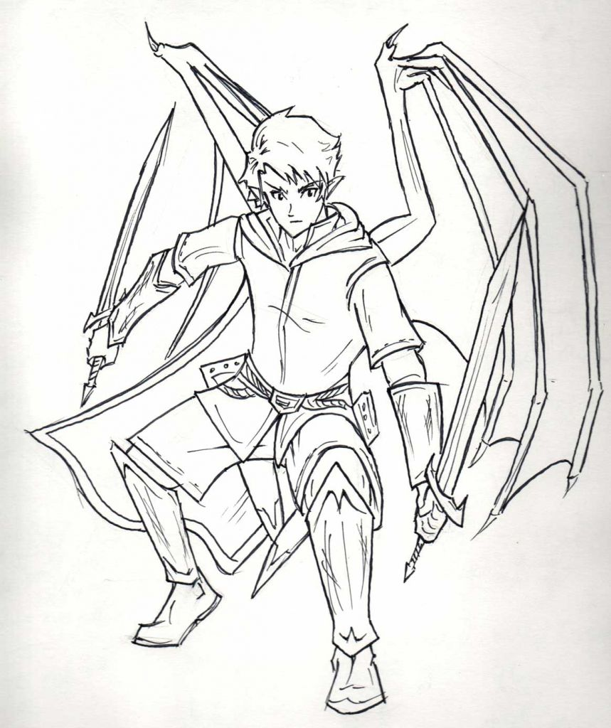 Image Result For Drawn Anime Characters Full Body Anime Characters Sword Drawing Drawings