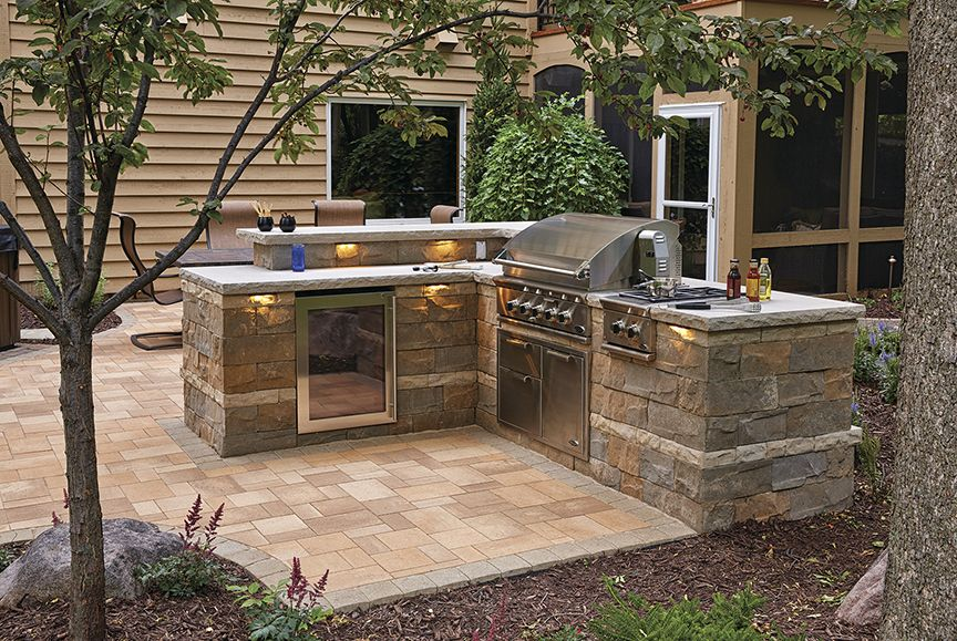 the brisa multi piece wall system delivers the elegant look of natural split limestone for both on outdoor kitchen natural id=61053