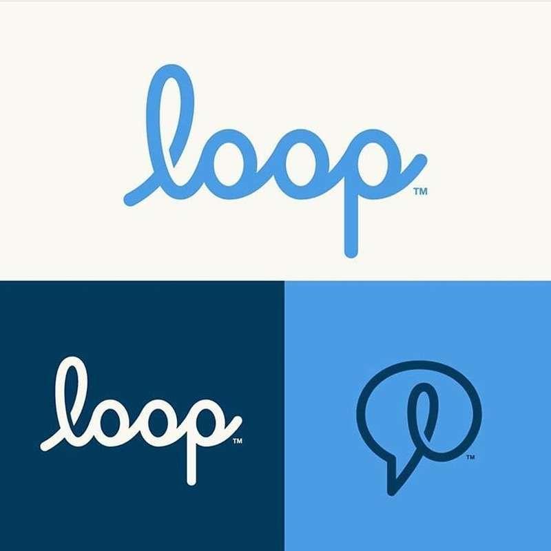 Loop Communication Platform Brand With Images Startup Logo