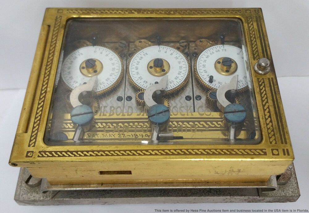 1894 triple pocket watch lock and movement diebold safe