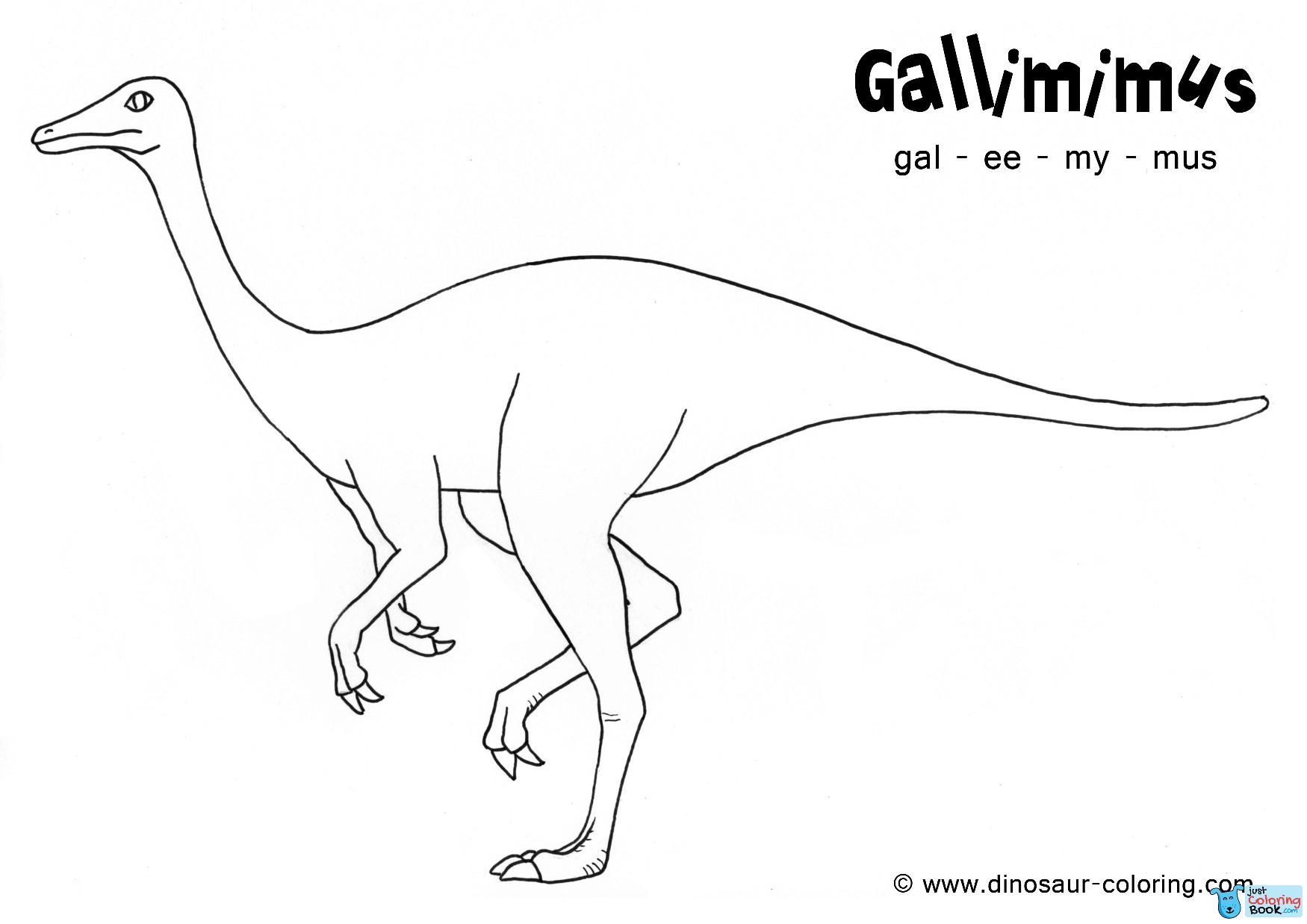 Gallimimus Coloring Intended For Free Download Gallimimus Dinosaur Coloring Pages