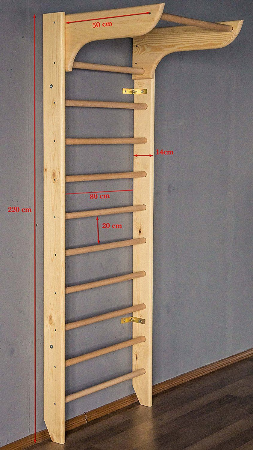 Bar2fit Wooden Wall Bars Stall For Home Fitness And Exercising