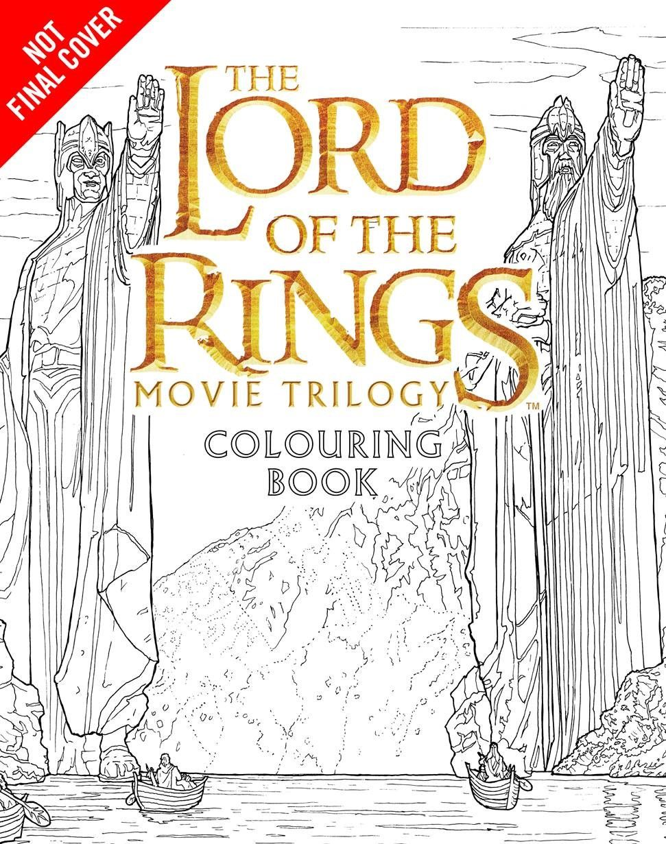 New Merch Lord Of The Rings Movie Colouring Book Lord Of The Rings Coloring Books Lord
