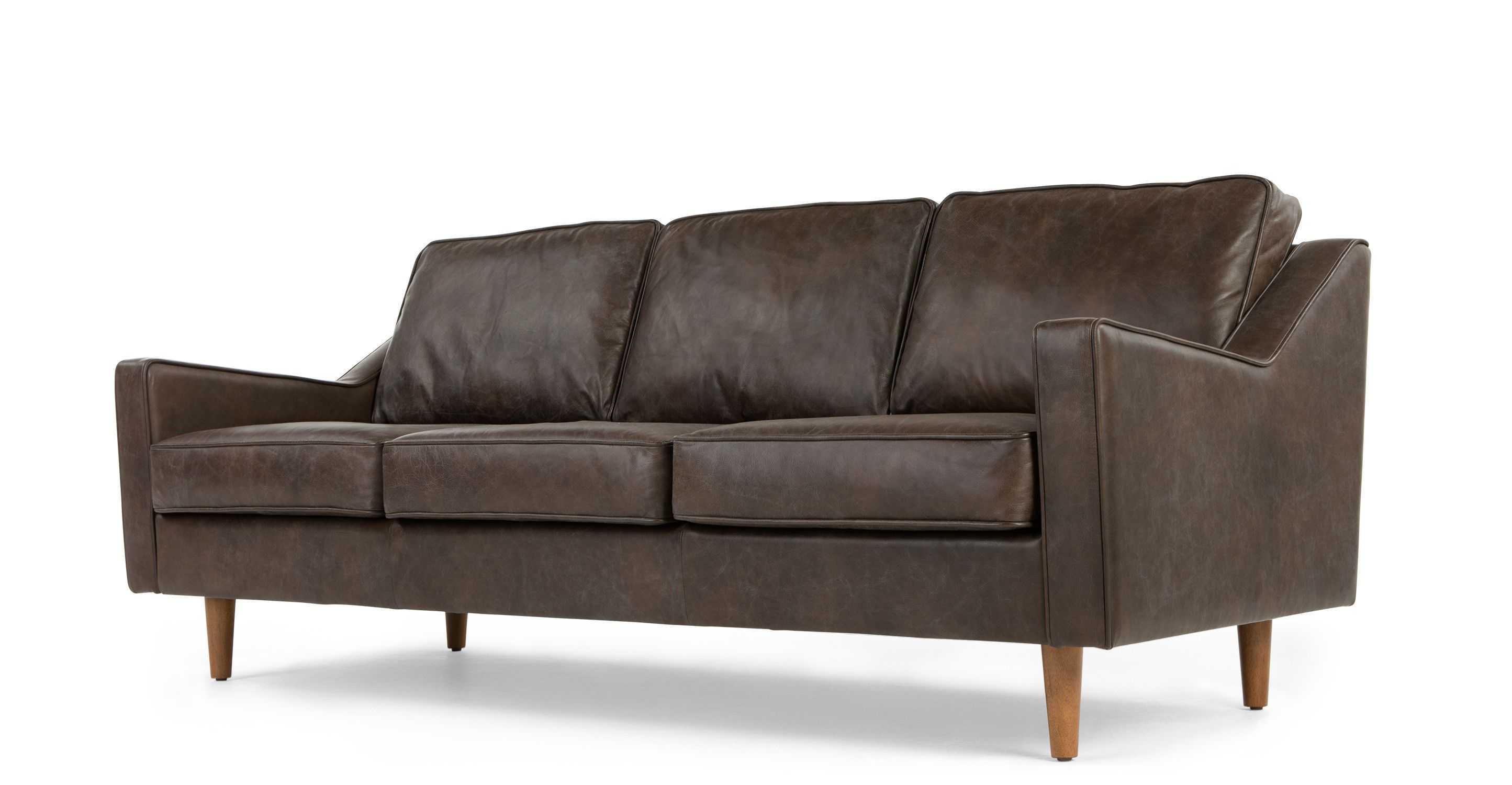 MADE Oxford Brown Premium Leather Sofa | House ideas | 3 ...