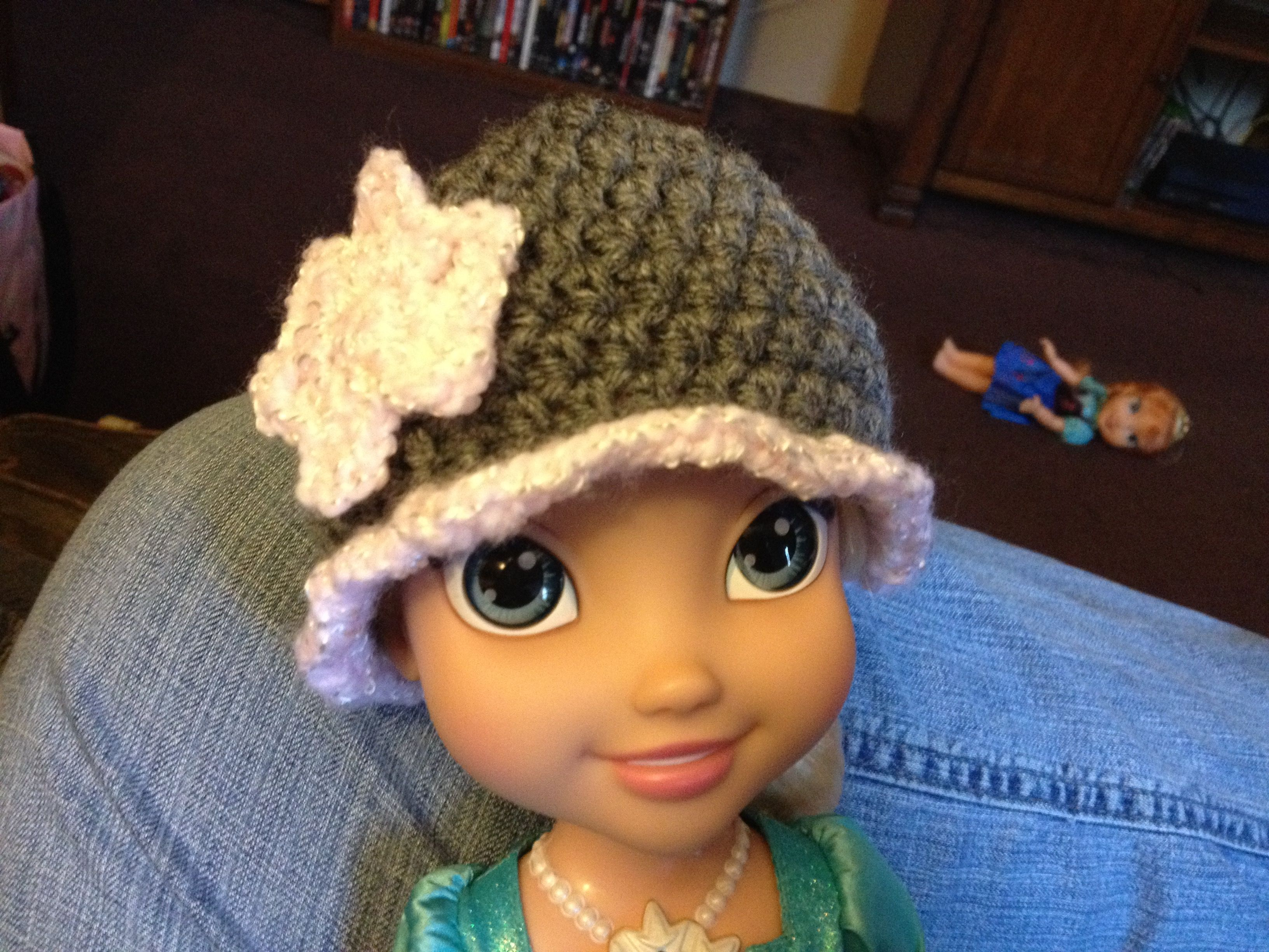 crochet doll hat