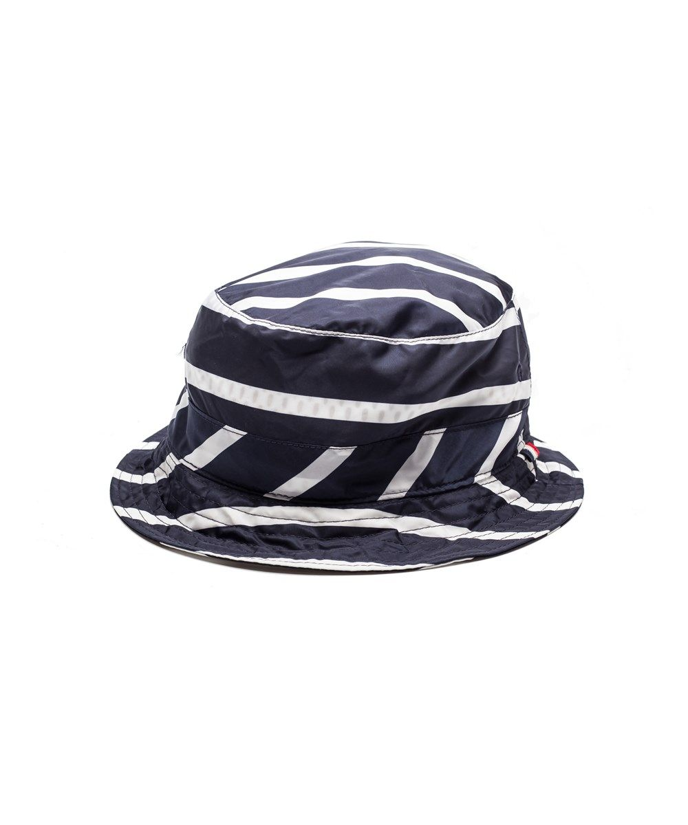 MONCLER Moncler Men S Nylon Striped Bucket Hat Navy .  moncler  hats ... 79397e83c5f