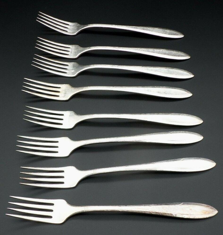 Oneida reverie nobility silverplate flatware 8 dinner