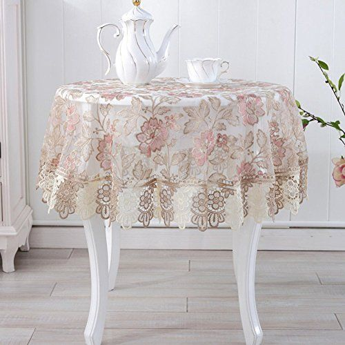 Homee European Style Tablecloths Round Table Cloth Lace Tv Cabinet Towel Bedside Napkins C