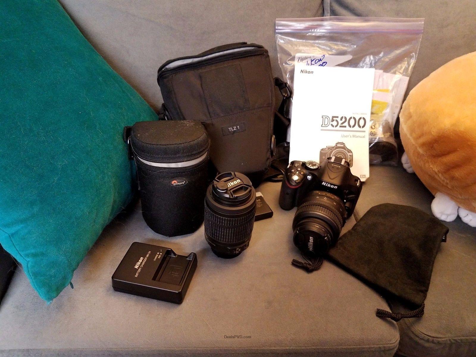 Nikon D5200 DSLR Camera 18-55mm & telephoto $425.00 https://wp.me/p3bv3h-hnw