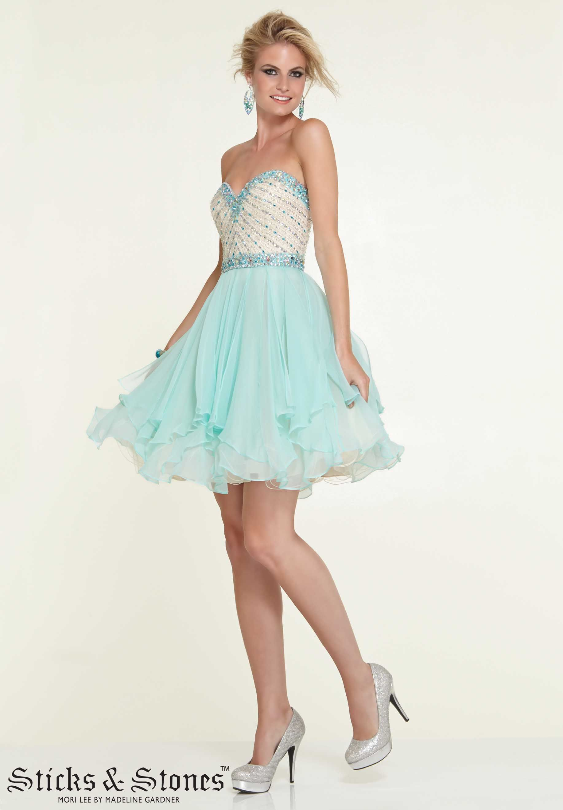 Homecoming party cocktail dresses style satin and