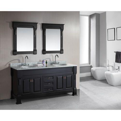 "Design Element Marcos 72"" Bathroom Vanity Set with Double Sink"