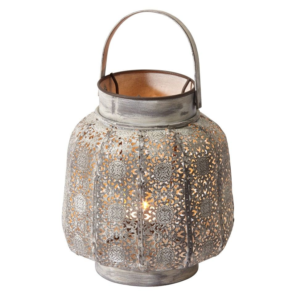 Laterne Antik Weiss Metall Laterne Teelichthalter Und