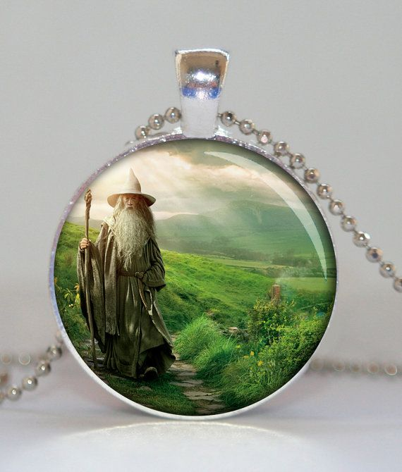 GANDALF HOBBIT Lord of the rings pendant necklace by pendantmania, $12.70
