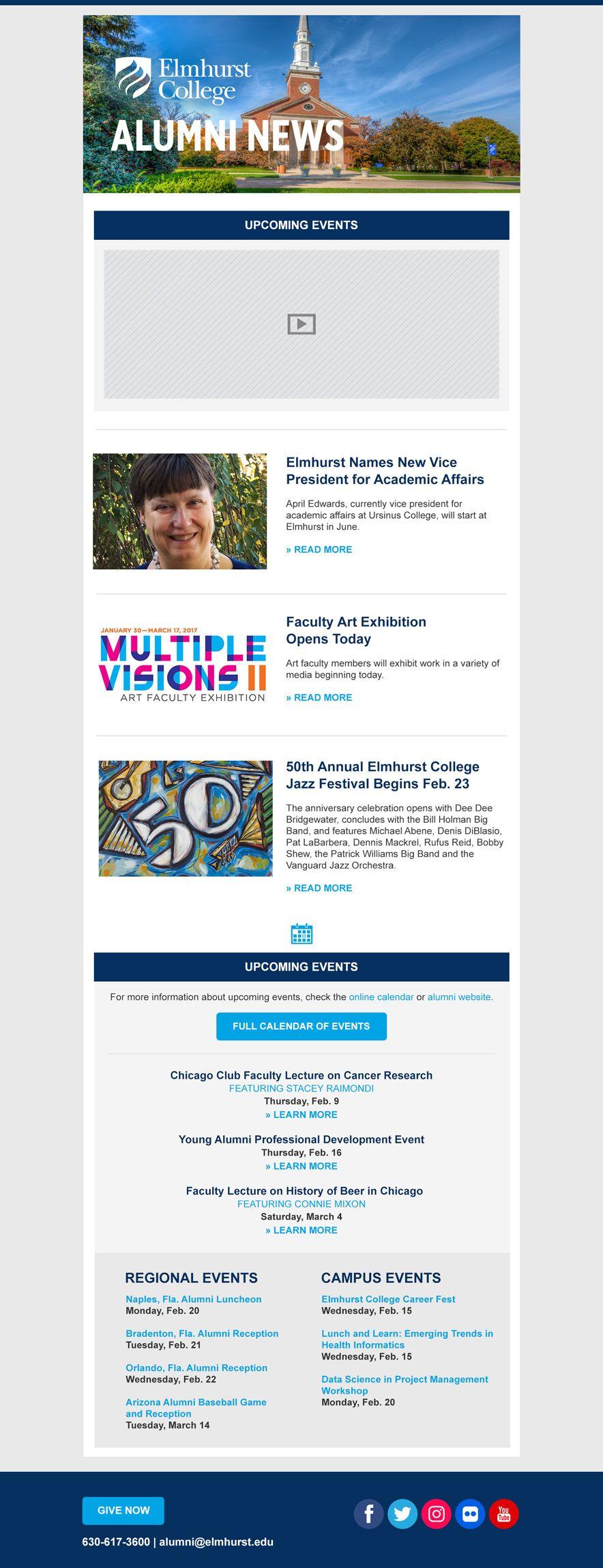 university education newsletter elmhurst college custom