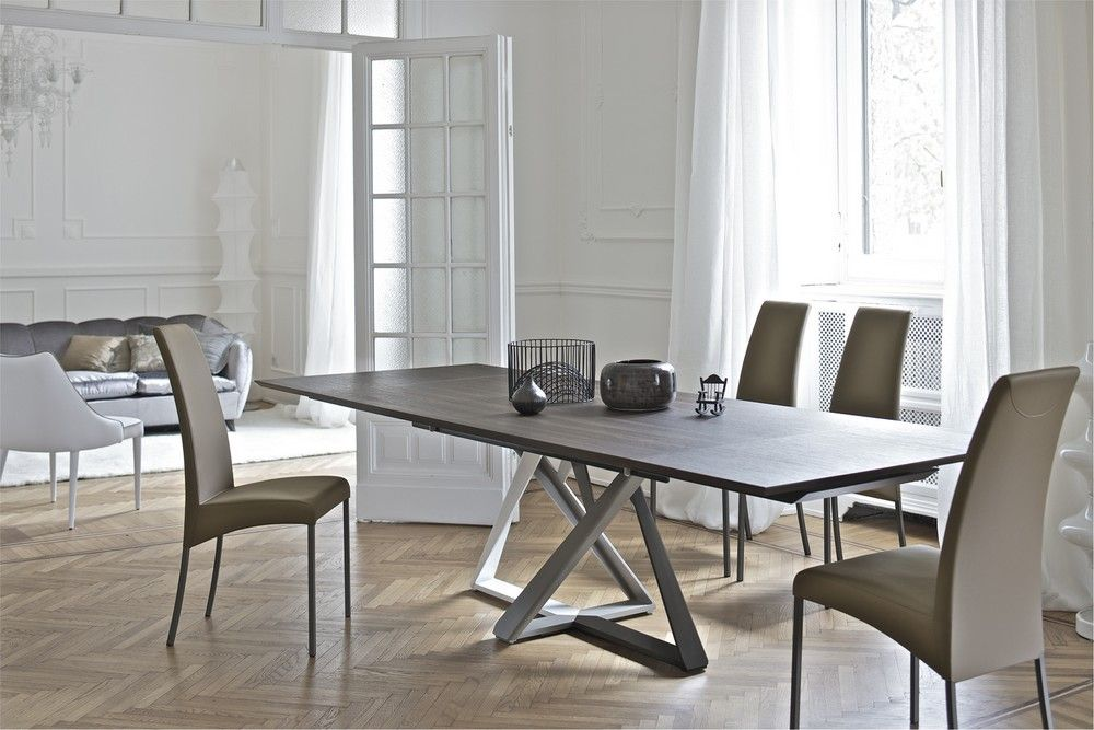 Tavolo Flat ~ Diamante tavolo allungabile prolunga interna da 60cm struttura