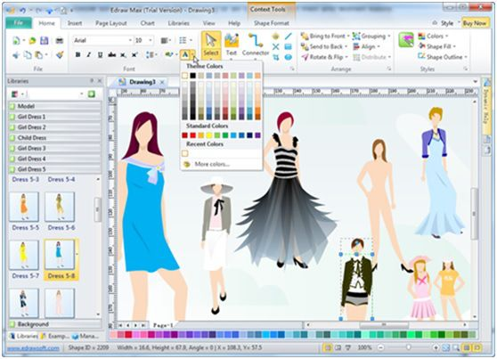 Edraw Max Makes Fashion Design Easier With Images Fashion