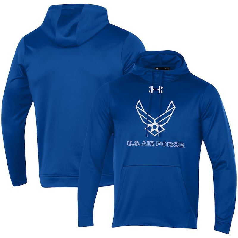 Air Force Falcons Under Armour Military Branch Performance Pullover Hoodie  – Royal baff4cc7fd