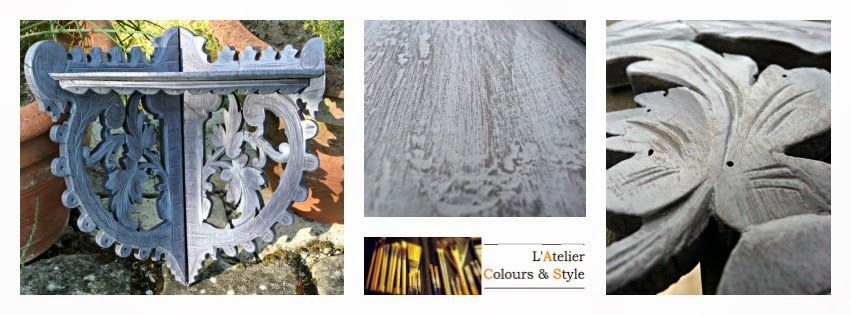 L'Atelier Colours & Style : garden plum are inspired tones of this small corner fruity shelf