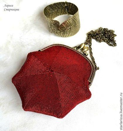 dfbc978da52d Женские сумки ручной работы. Ярмарка Мастеров - ручная работа. Купить  Маленькая бисерная сумочка-кошелек резерв. Handmade.