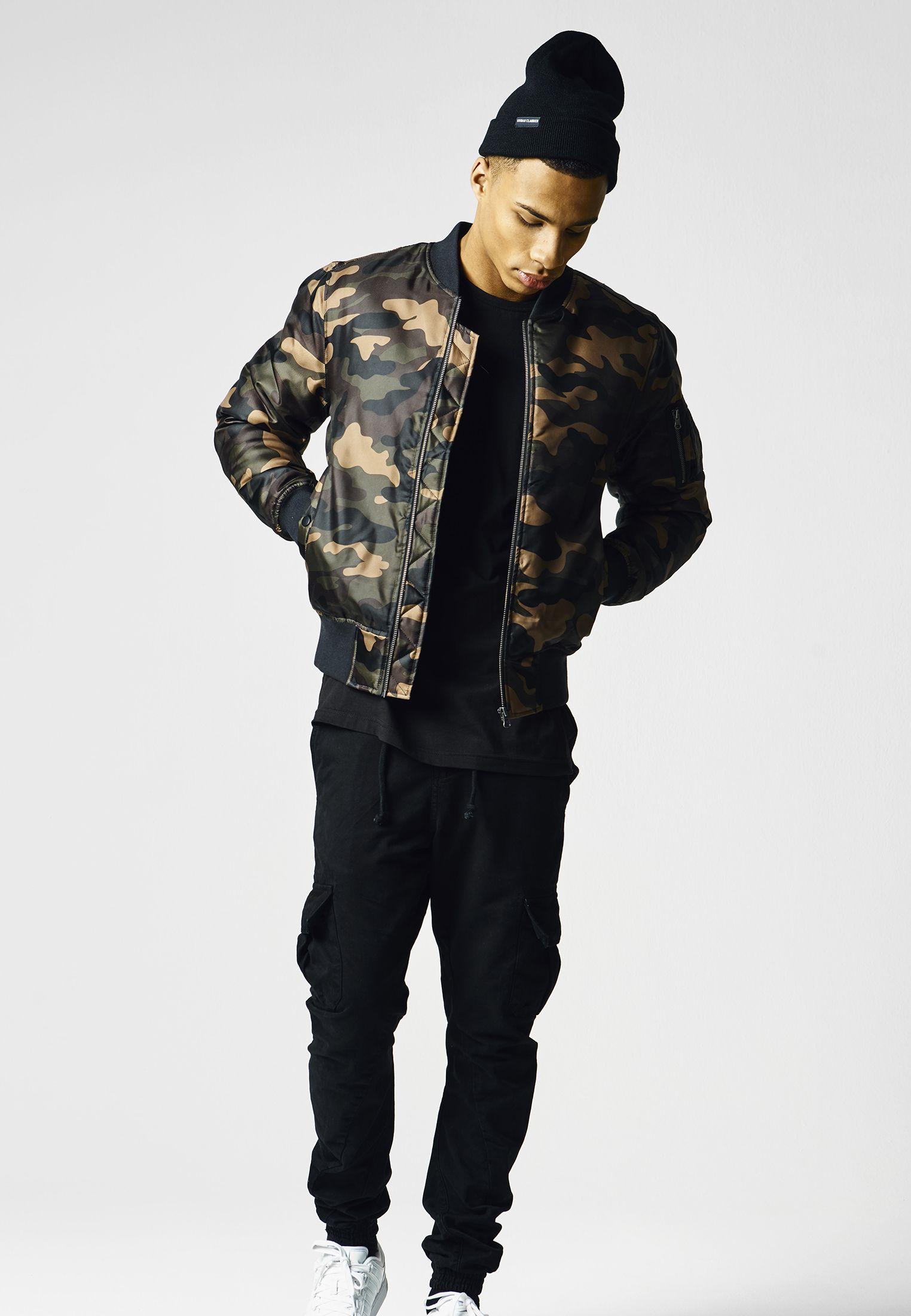 Urban Classics Camo Basic Bomber Jacket Blouson Homme