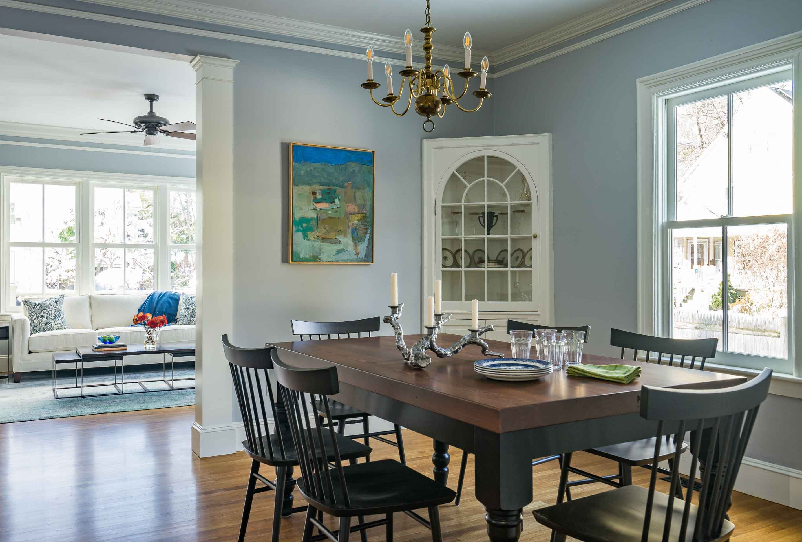 Renovated Dining Room Is Now Part Of An Open Concept Kitchen And Living Area From