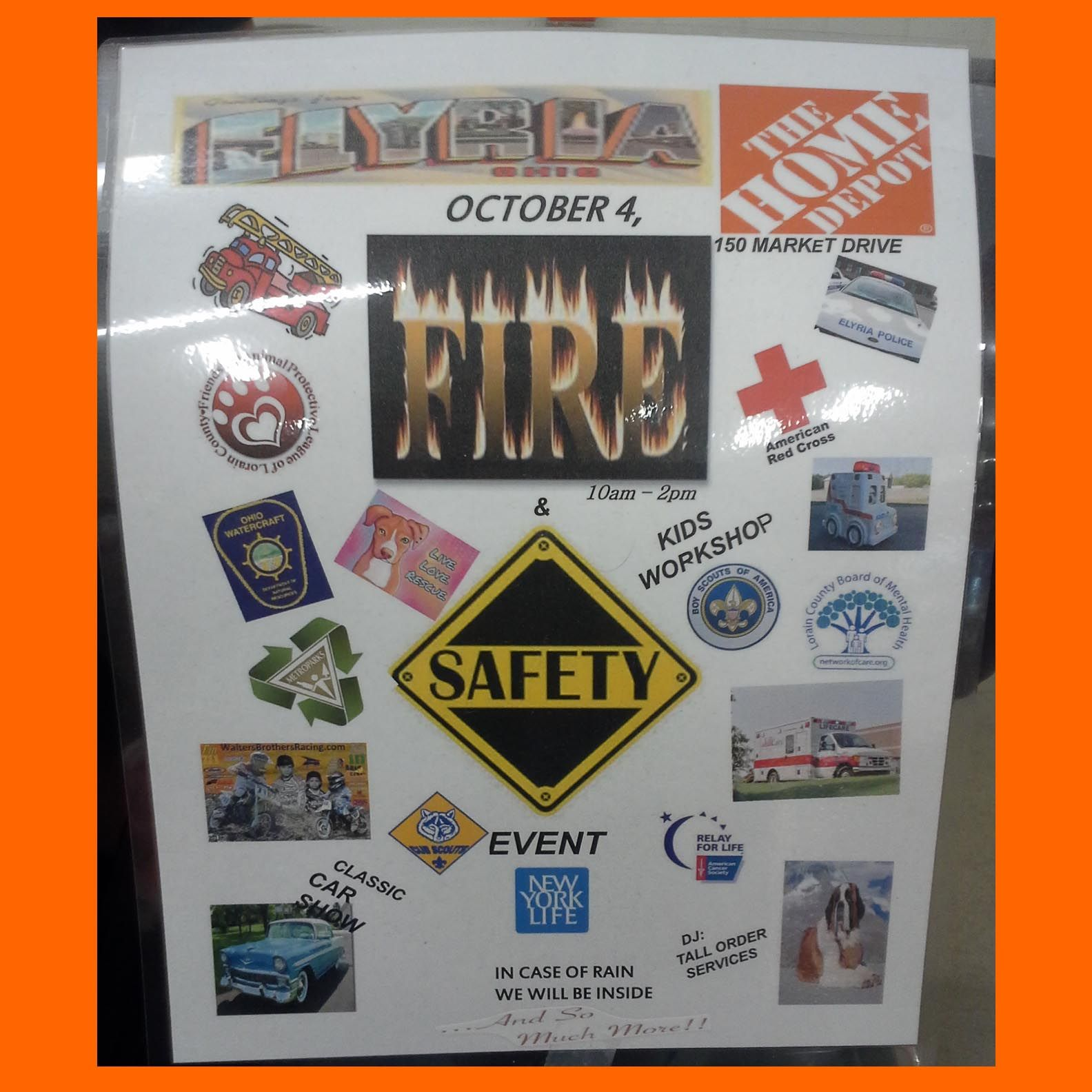 Went to the Elyria Home Depot and found their Safety Event