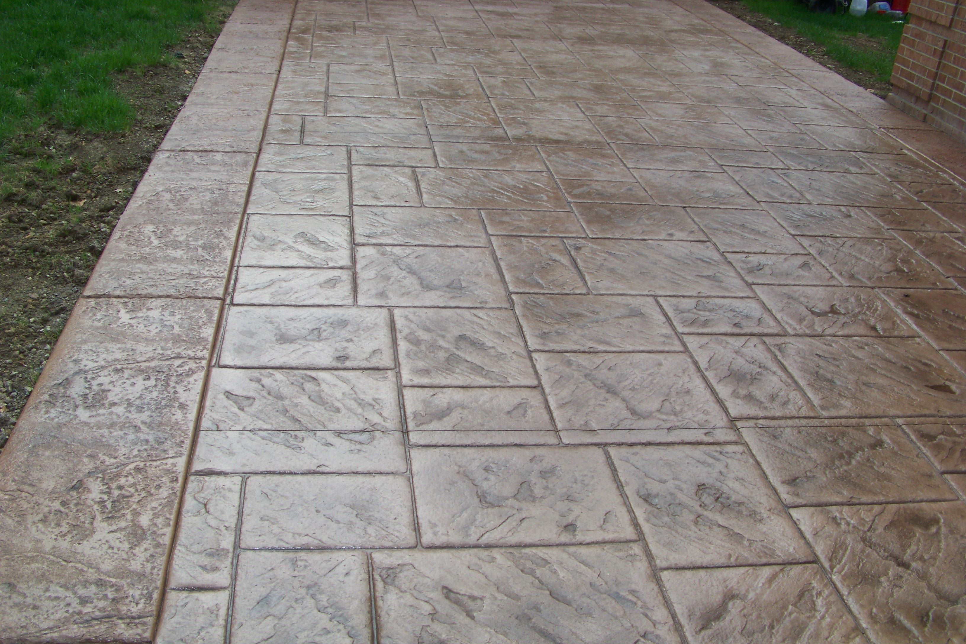 Perfect palapas stamped concrete decks photo gallery for How to make designs in concrete