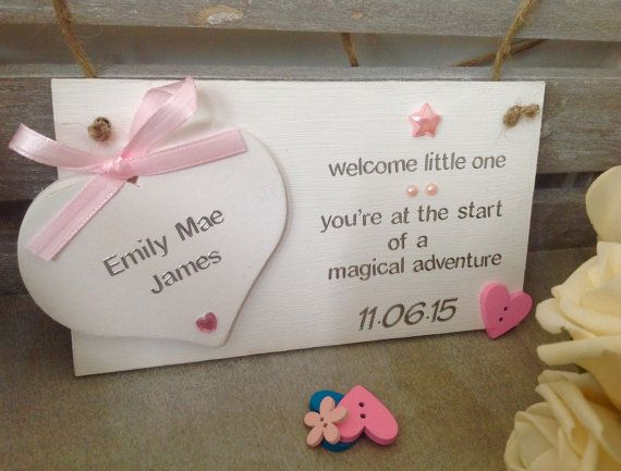 Personalised handmade baby name plaque by happyheartsdesignsuk personalised handmade baby name plaque handmade personalised new baby gifts personalised baby plaques negle Choice Image