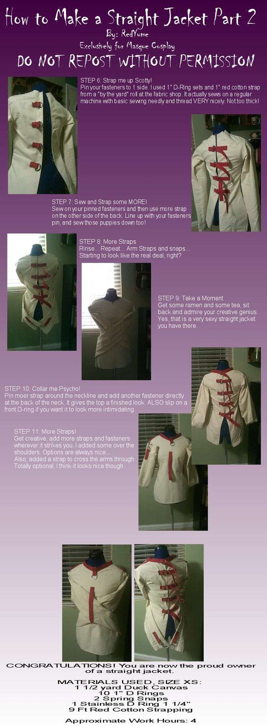 Tutorial: Straight Jacket 2 by *RedYume - Either this would make a ...