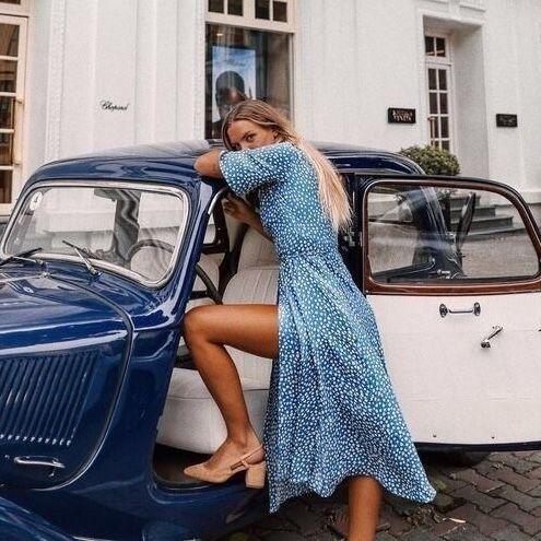 Cute dress cute car beautiful colour beautiful girl Cute dress cute car beautiful colour beautiful girl,