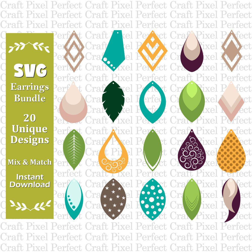 Download Earrings Template Svg, Faux Leather Earrings Svg, Earrings ...