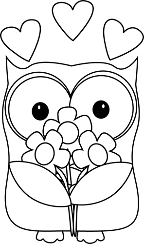 black and white valentine s day owl baglyok pinterest owl rh pinterest com christmas owl black and white clipart cute owl black and white clipart