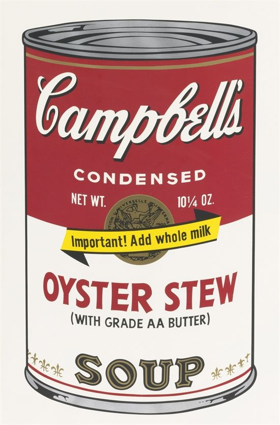 Oyster Stew, from Campbell's Soup II by Andy Warhol
