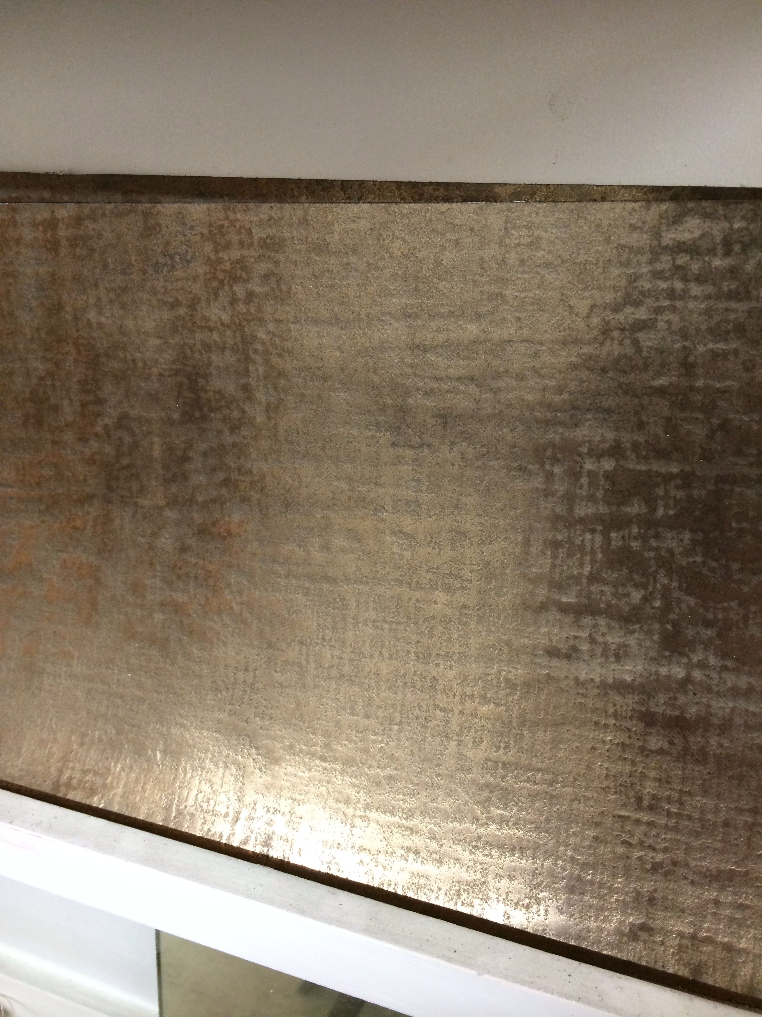 Linen textured bronze flexible metal coating suitable for wall and furniture treatment handmade by stuart