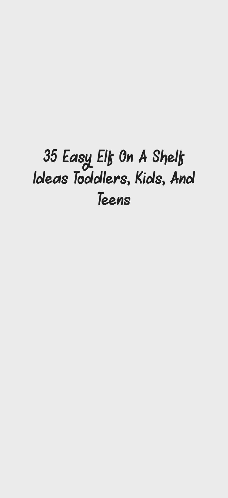 Great No Cost elf on the shelf ideas for kids that are easy, fun, and creative. Great for ...