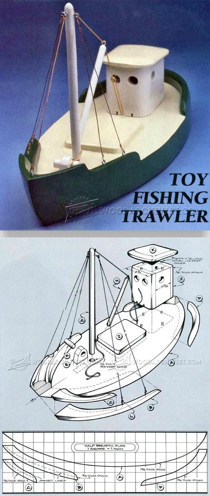 wooden toy fishing trawler - wooden toys plans and projects