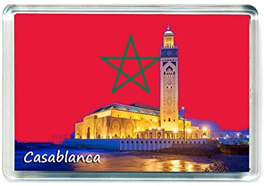 GCT I312 Casablanca Jumbo Aimant pour Le Frigo Morocco Maroc Travel Fridge Magnet